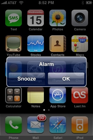 Alarm Goes Off - iPhone - Picture - Image - Photo
