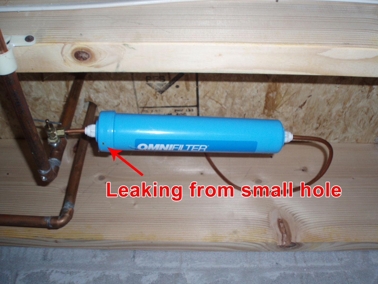 Refrigerator Ice Maker Filter Leaking Omni Water Filter R200 A Picture Image Photo