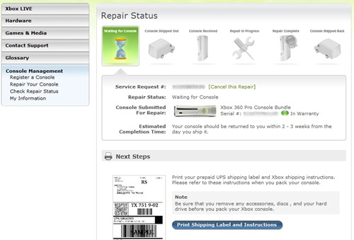 how to get your xbox 360 repaired using xbox support