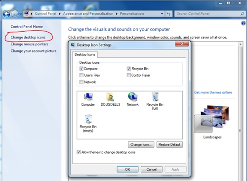 How to Show Missing Recycle Bin in Windows 7