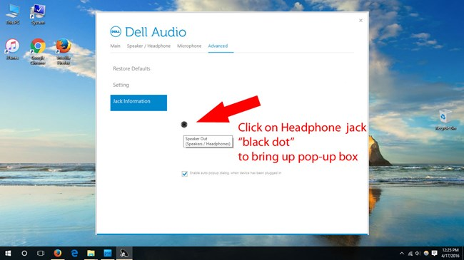 How to Fix Not Working Headphone Speaker Jack on Windows 10 Dell Laptop